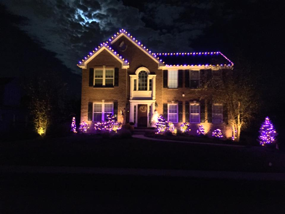 Halloween House Outdoor Lighting Perspectives