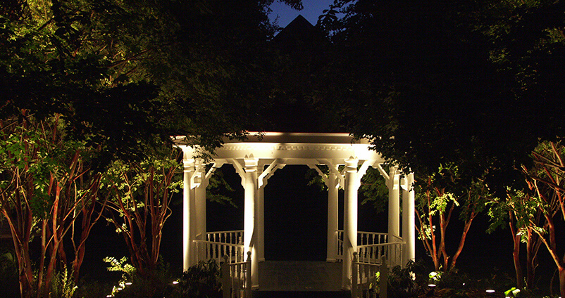 Outdoor Lighting Perspectives project well lit backyard with gazebo
